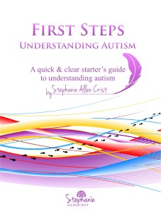 "Book cover for ""First Steps: Understanding Autism"""